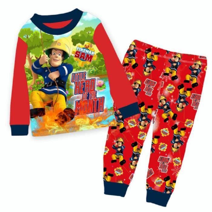 Sam le Pompier Ensemble de Pyjama Gar/çon