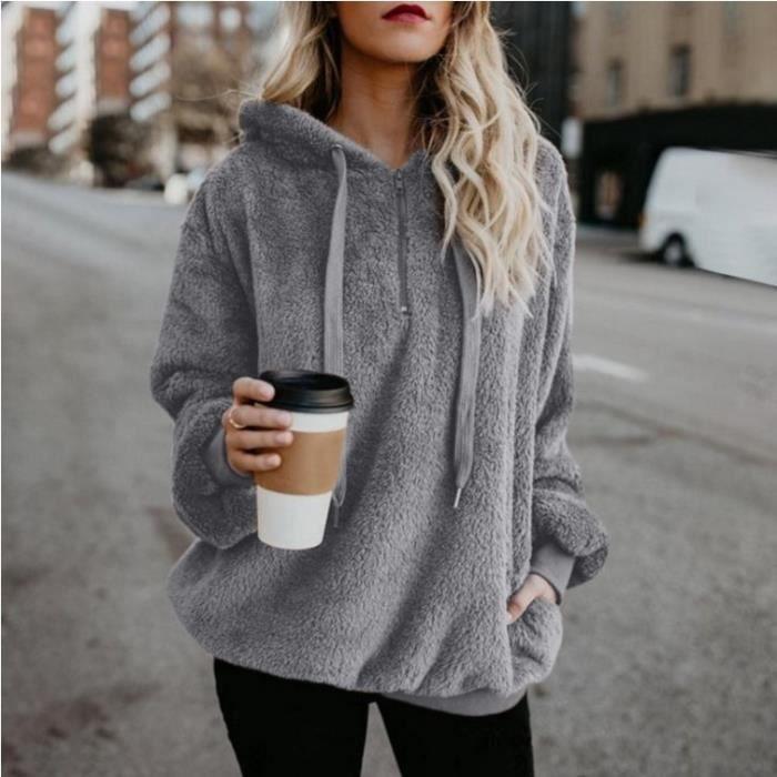 sweat capuche femme hiver