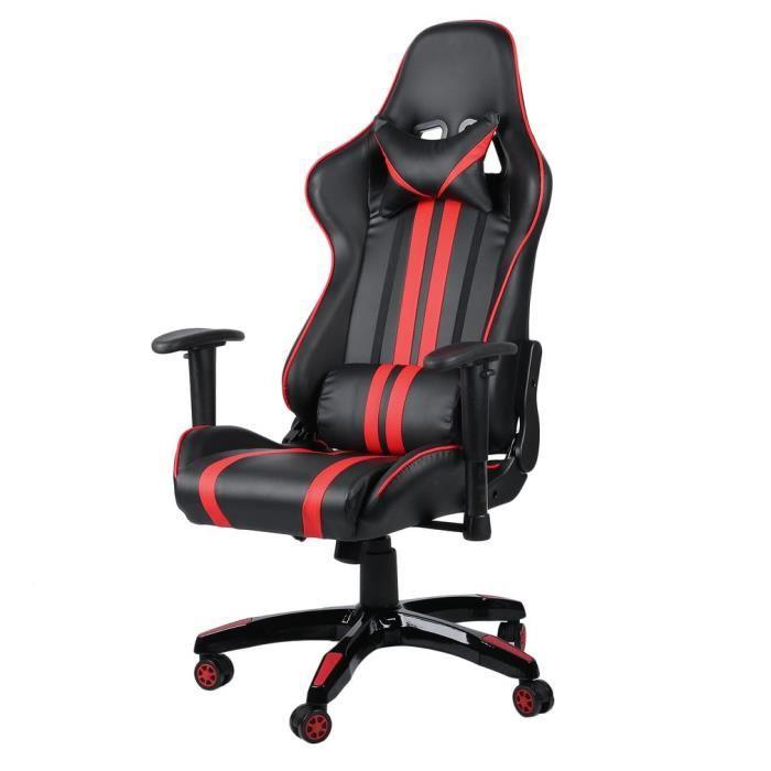 CHAISE DE BUREAU LESHP® 2018 siège gaming fauteuil gamer chaise de