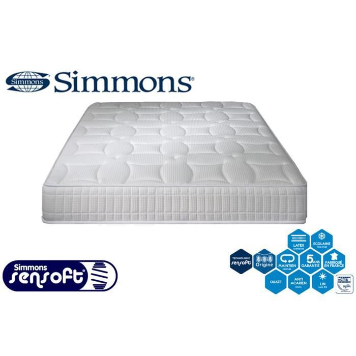 matelas simmons ressorts sensoft accueil latex mi ferme 24 cm feery 3700722815124 achat. Black Bedroom Furniture Sets. Home Design Ideas