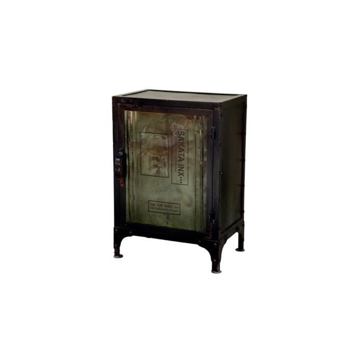 bahut en m tal 1 porte noir safety achat vente buffet. Black Bedroom Furniture Sets. Home Design Ideas