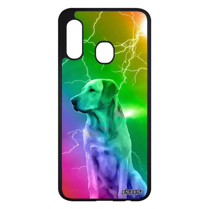 Coque pour Samsung Galaxy A20e silicone chien ecla
