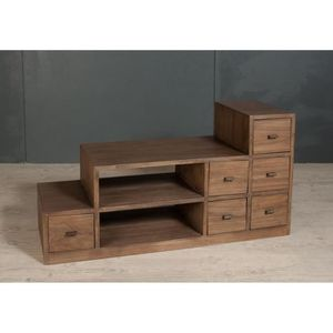 meuble tv bois exotique achat vente meuble tv bois. Black Bedroom Furniture Sets. Home Design Ideas