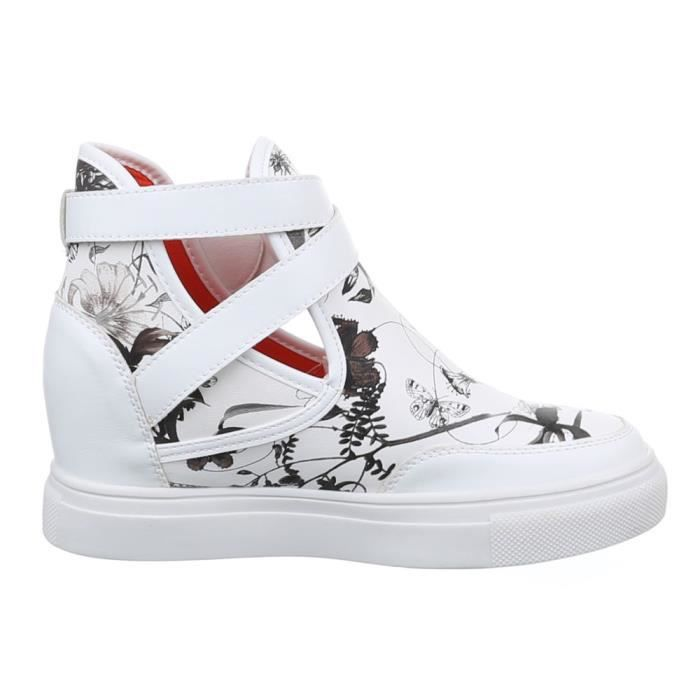 Femme chaussures loisirs chaussures Sneakers blanc 40