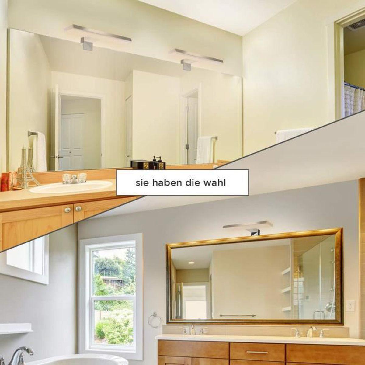 Lumières De Salle De Bains led luminaire salle de bain 8w, 60cm lumière miroir ip44, applique salle de  bain blanc naturel 4000k