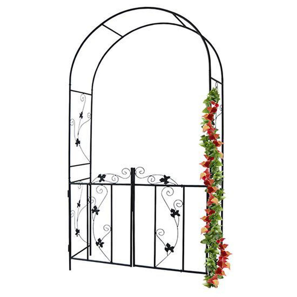Fabriquer Treillis Bois Pour Plantes Grimpantes arche de jardin pour plantes grimpantes en acier noir arceau
