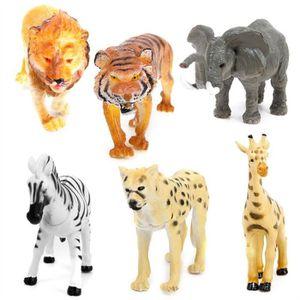 ROBOT - ANIMAL ANIMÉ 6pcs en plastique modèle tigre léopard lion girafe