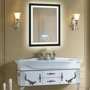 miroir salle de bain avec lumiere achat vente miroir. Black Bedroom Furniture Sets. Home Design Ideas