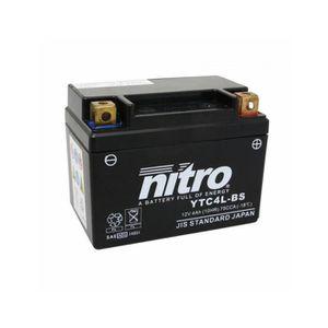 BATTERIE VÉHICULE Batterie 12v 4 ah ytc4l-bs nitro sans entretien ge