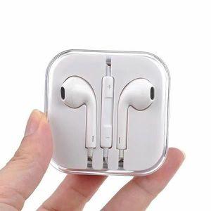 CASQUE - ÉCOUTEURS Popcorn Blanc Écouteurs EarPods pour Apple iPhone