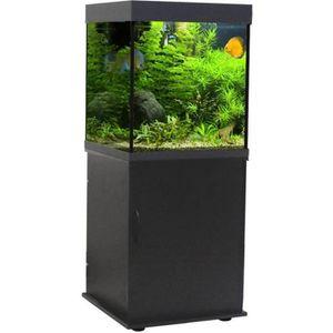 AQUARIUM Soutien d'onde classique 55 aquarium Cube Noir 55x