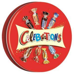 CONFISERIE DE CHOCOLAT MARS Bonbons assortis Célébrations en boîte métal