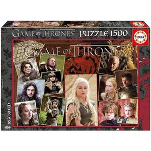 PUZZLE EDUCA - Puzzle Game of Thrones 1500 pièces