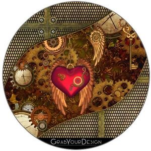 Steampunk Motif chat Lot de 4/ dessous-de-verre