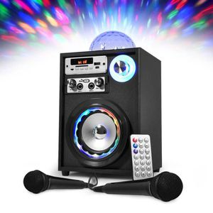 ENCEINTE ET RETOUR Enceinte Karaoké Autonome à LEDs RVB & Effet Magic