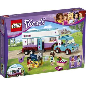 assemblage construction lego friends 41125 la remorque chevaux du vtr