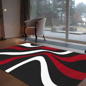 TAPIS Tapis de salon DIAMOND -  760 910 - Noir, Rouge et