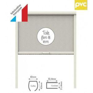 MOUSTIQUAIRE OUVERTURE Store moustiquaire PVC pour fenêtre L80 x H100 cm