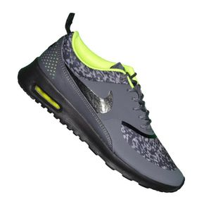 san francisco popular stores new lower prices Nike - Basket - Femme - Air Max Thea Print - Gris Jaune Gris ...
