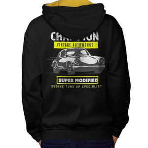 SWEATSHIRT Course Voiture Champion Cru Men  Sweat à capuche l