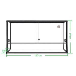 VIVARIUM - TERRARIUM Terrarium aluminium Elegance 120x50x50 Black