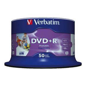 CD - DVD VIERGE Verbatim - 50 x DVD+R - 4.7 Go 16x - noyau intéri…