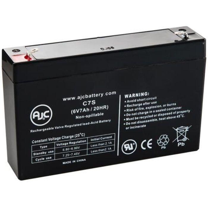 Batterie Leoch DJW6-7.0 6V 7Ah UPS - AJC-C7S-M-0-125374