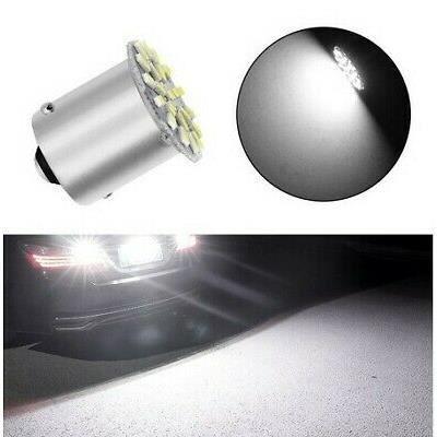 Ampoule LED BAY15D P21/5W 22 SMD 6000K Blanc Xénon Veilleuse Feux 12V Moto scooter Auto
