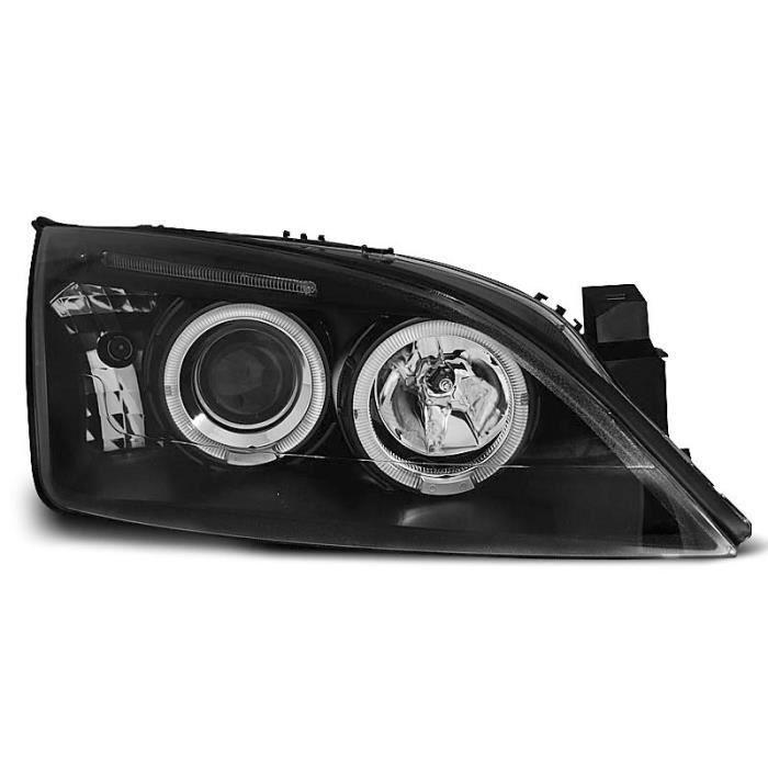 Paire de feux phares Ford Mondeo MK3 00-07 angel eyes noir (O35)
