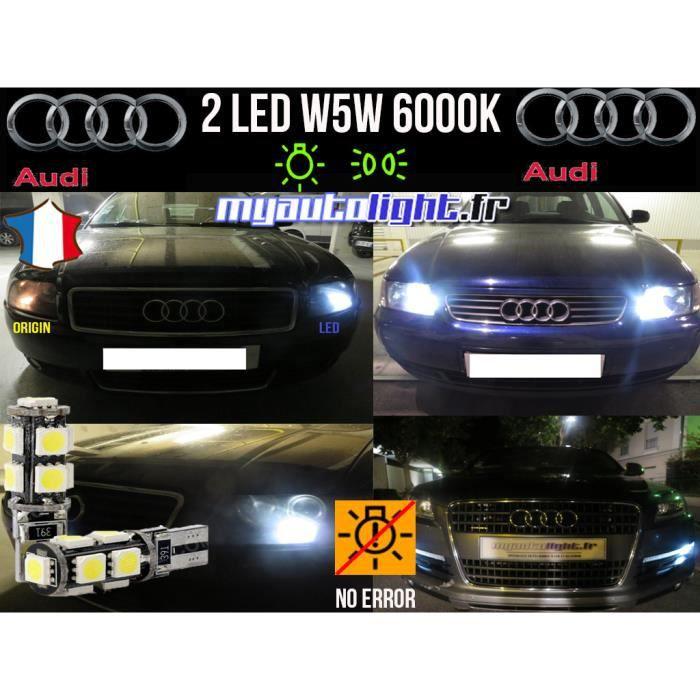 Feux de position - W5W Led blanc xenon - Audi A3 8P