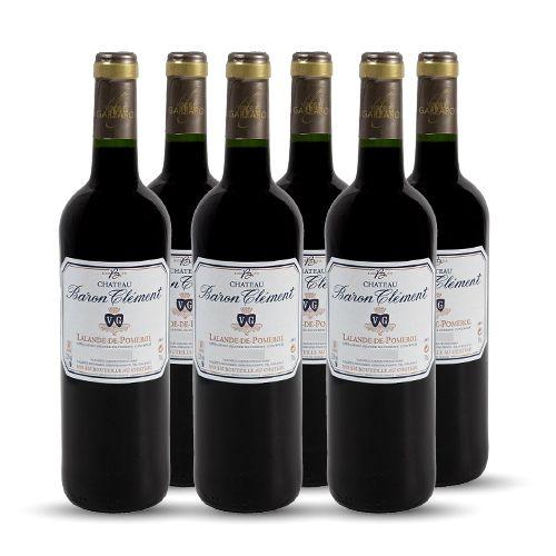 6 bouteilles - Vin rouge - Tranquille - Château Baron Clément - Vignobles Garzaro Lalande-de-Pomerol Rouge 2015 6x75cl