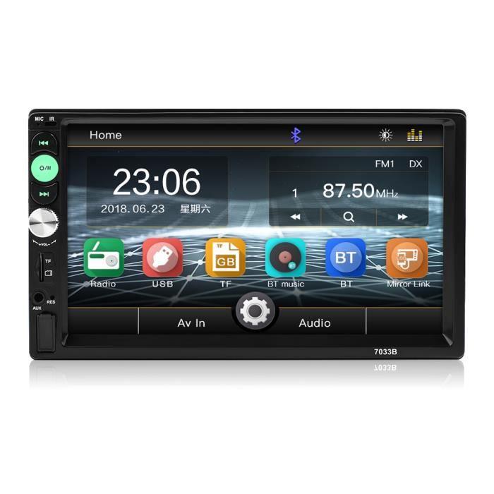7036B autoradio stéréo 2 DIN MP5 Player mirrorlink Android 2din autoradio 7 -écran tactile HD Bluetooth multimédia Autoradio Surli
