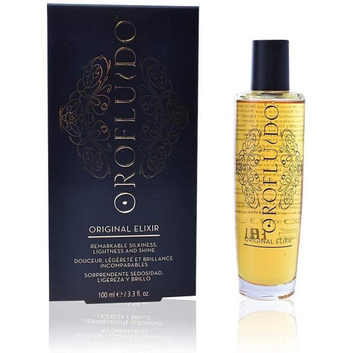 Soins des cheveux OROFLUIDO Original Elixir Brillance Protection Couleur Huile d'Argan pour Cheveux Ternes, 100ml 145370