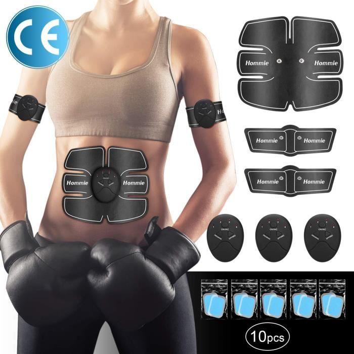 EMS Ceinture de Musculation Abdominale, Electrostimulation Entraînement d'Abdomen,Bras,Jambe, Corps Masseur de Bureau Homme,Femme