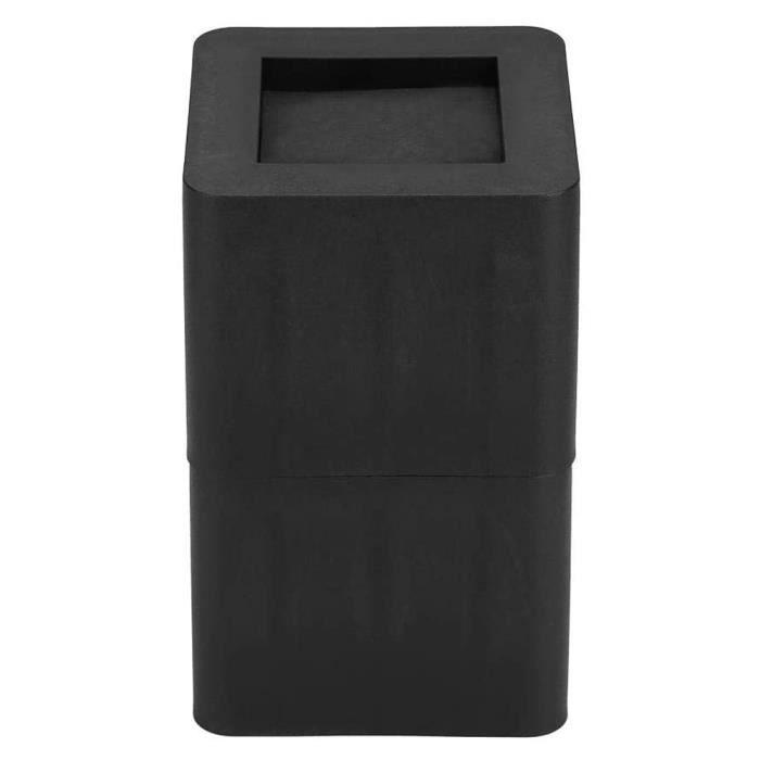 Ashata Rehausseur de meuble Rehausseur Jambe Meuble Elévateur Antidérapant en Plastique PP Noir pour Canapé Table Bureau Lit