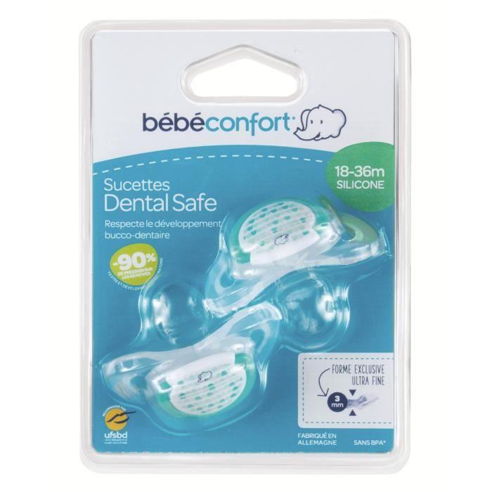 BEBE CONFORT Sucette Dental Safe 18-36 mois x2 - Silicone - Vert Little Valleys