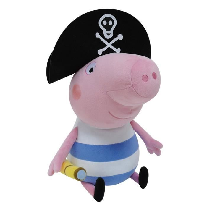 PEPPA PIG Peluche Georges Pirate - 50 cm