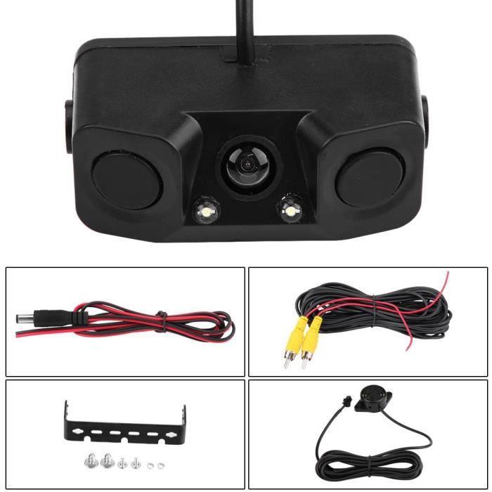 Fdit radar de recul de stationnement Caméra de recul vidéo visuelle de recul 3 en 1 avec détecteur de radar de recul capteur de
