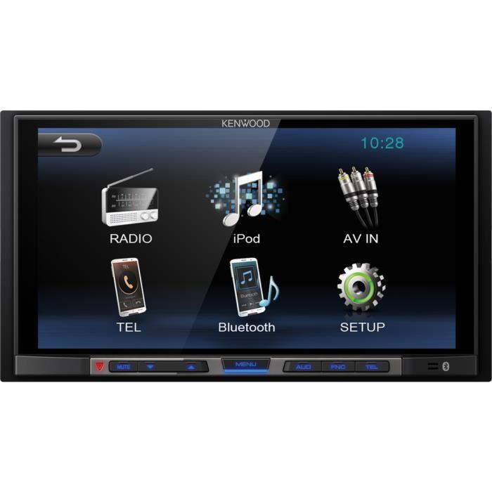 KENWOOD DMX100BT Moniceiver 2-Din avec Bluetooth