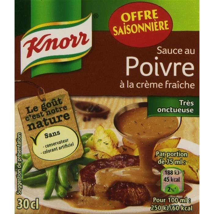 Knorr Sauce au Poivre à La Crème Fraîche La Brique 30 cl