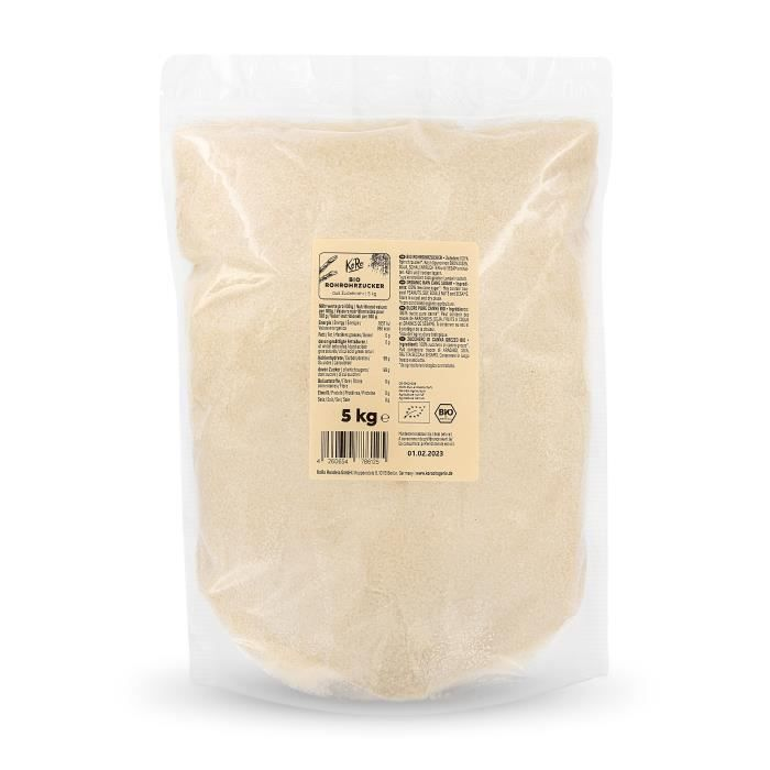 KoRo Sucre de canne brut bio 5 kg