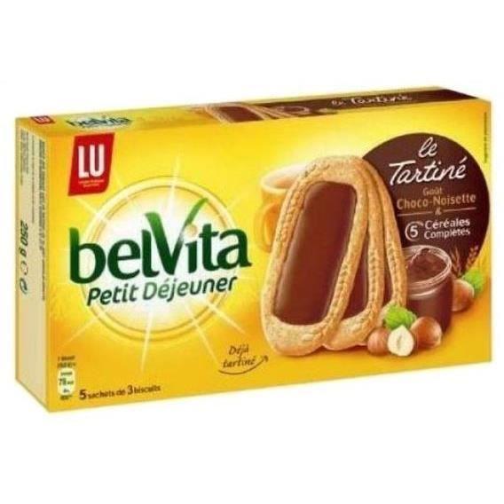 Biscuits petit déjeuner chocolat noisette 250 GRM Belvita