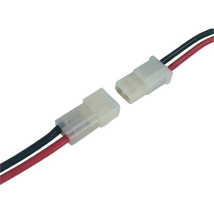 Fiche mâle/femelle câble, AMP