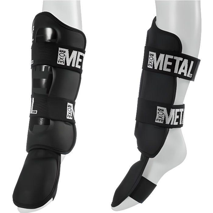 Protège tibias-pieds détachable Métal boxe