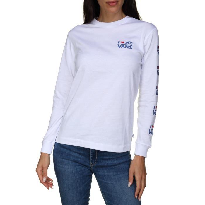 Tee shirt femme Vans Vans Love Ls Vn0a3ul3wht B...