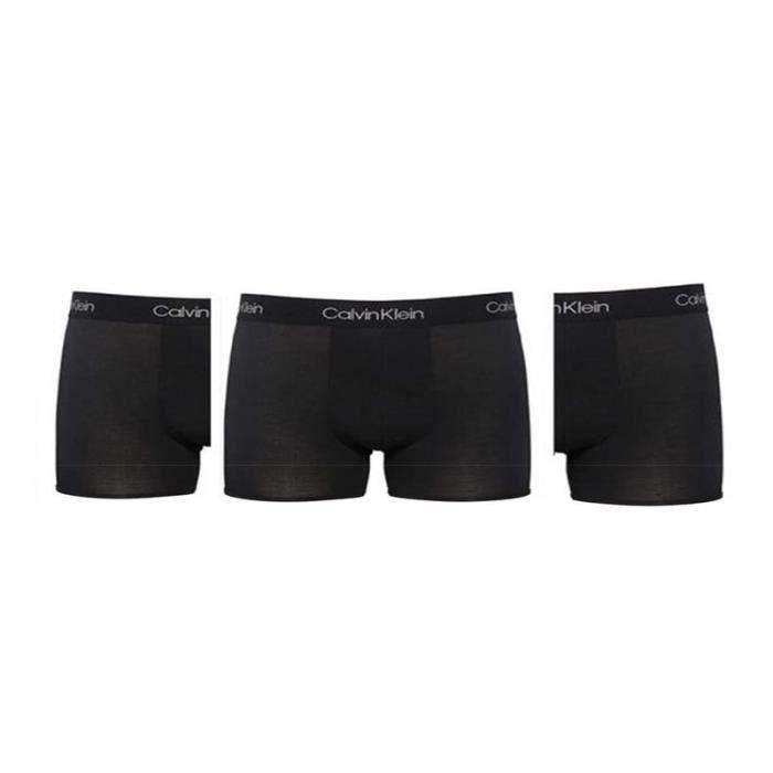 Homme CALVIN KLEIN Pack de 3 Boxers Coton Noir-Noir-Noir