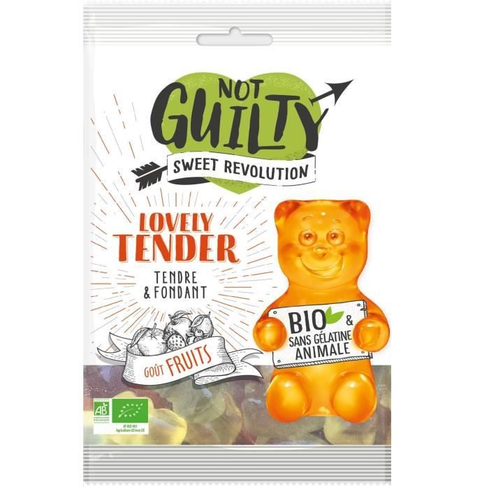 NOT GUILTY Gélifiés Sachet de Lovely Tender saveur Fruits BIO - 100 g