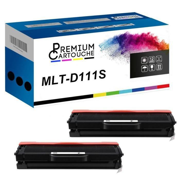 Toner MLT-D111S Noir x2 Compatible pour Samsung Xpress M 2020 Xpress M 2020 W Xpress M 2021 Xpress M 2021 W Xpress M 2022 Xpress M 2