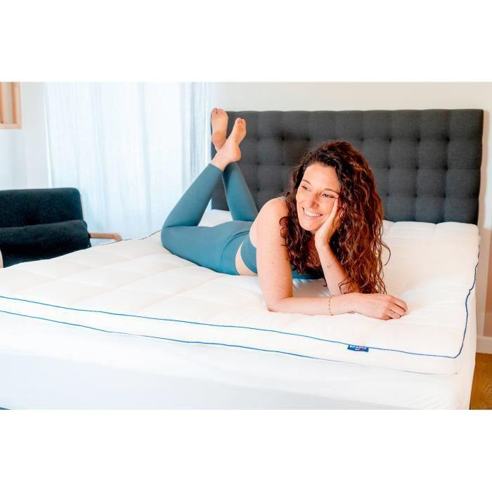 Surmatelas de Confort Moelleux 140 x 190 cm - Qualité Hôtellerie - Production Française - Epaisseur de 7 cm - Certifié Oeko-Tex