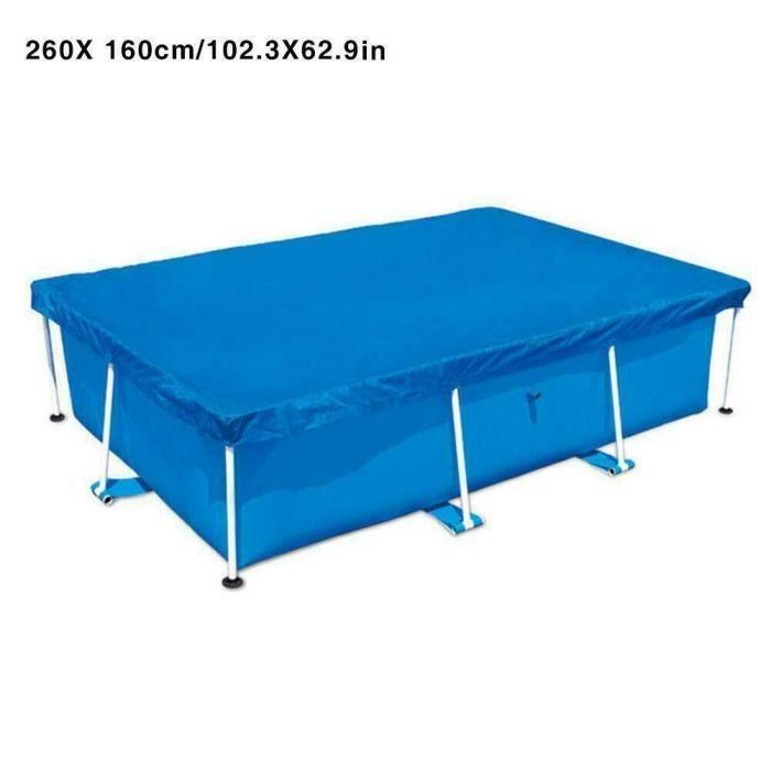 Couverture rectangulaire résistante à la poussière de couverture de piscine imperméable UV de natation